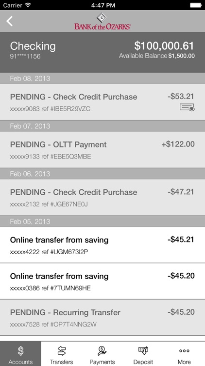 Bank of the Ozarks Mobile screenshot-3