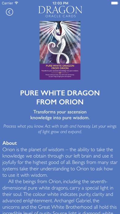 Dragon Oracle Cards screenshot 4