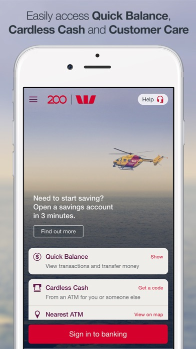Westpac Mobile Banking screenshot one