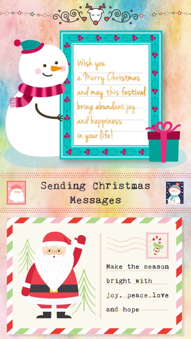 Christmas Letter with Message screenshot 1