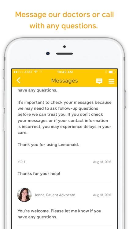 Lemonaid Health – Get a prescription online screenshot-3