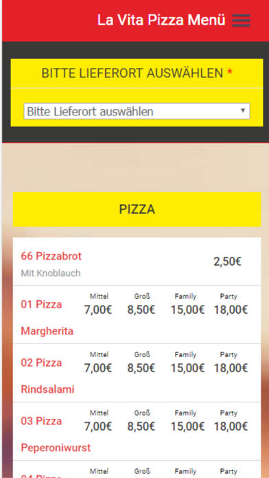 Pizzaservice La Vita screenshot two
