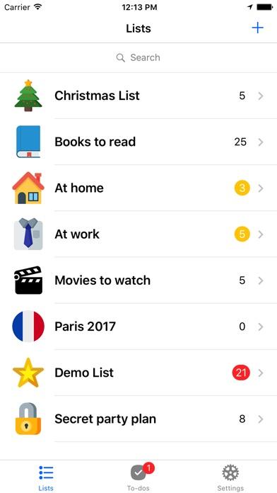 Pocket Lists 1のスクリーンショット