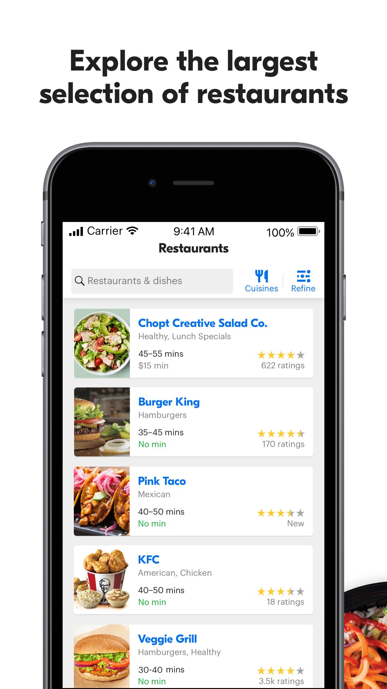 Grubhub: Local Food Delivery Screenshot