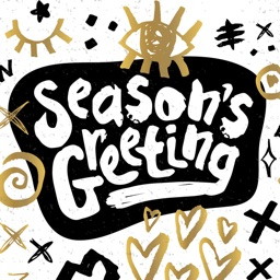 Season's Greeting Stickers