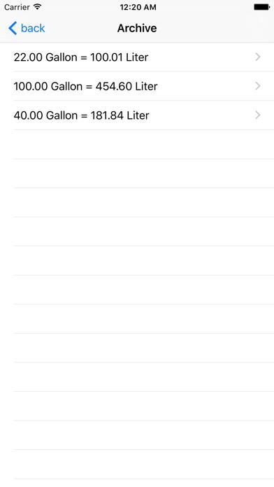 Gallon Liter Screenshot