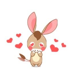 Lovely Baby Donkey Sticker