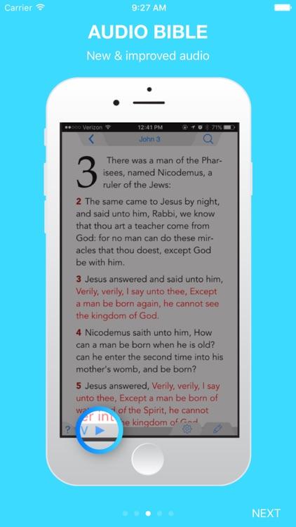 Holy Bible King James + Audio screenshot-3