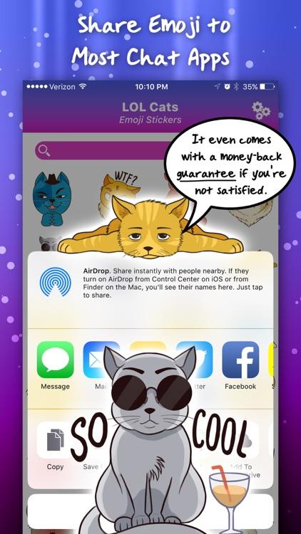 LOL Cats Emoji Stickers screenshot-4