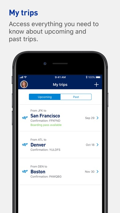 JetBlue - Book & manage trips Screenshot on iOS