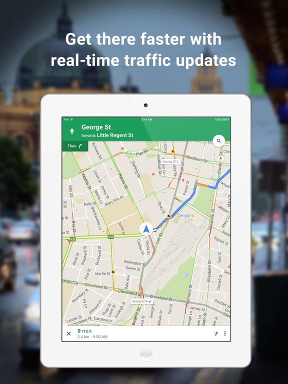 Google Maps - Transit & Food Screenshots