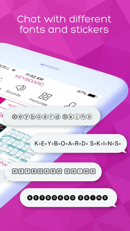 Keyboard Skins for iPhone