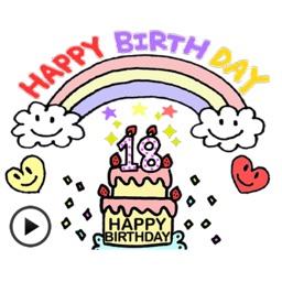 Animated Birthday Sticker Ver1
