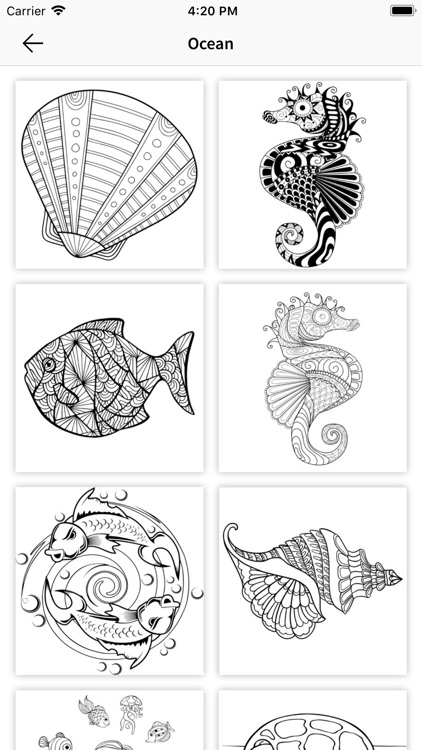 Coloring Book - Color Therapy screenshot-3