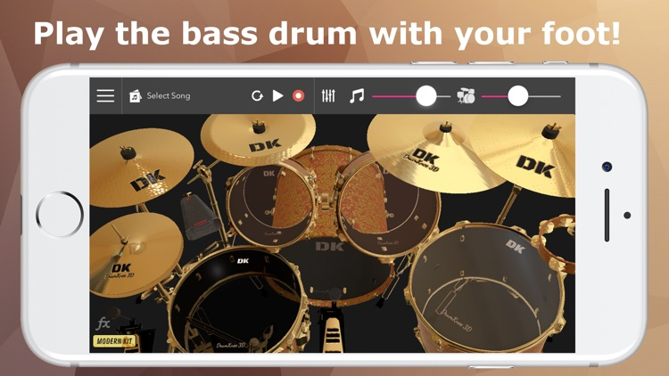 DrumKnee Drums 3D - Drum pad screenshot-0