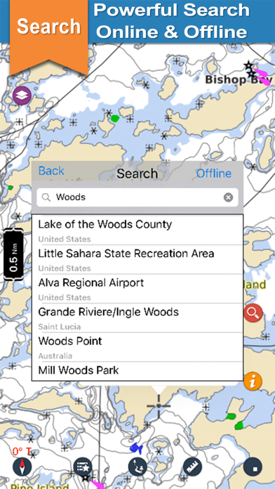 Lake Of the Woods gps offline chart for boaters screenshot three