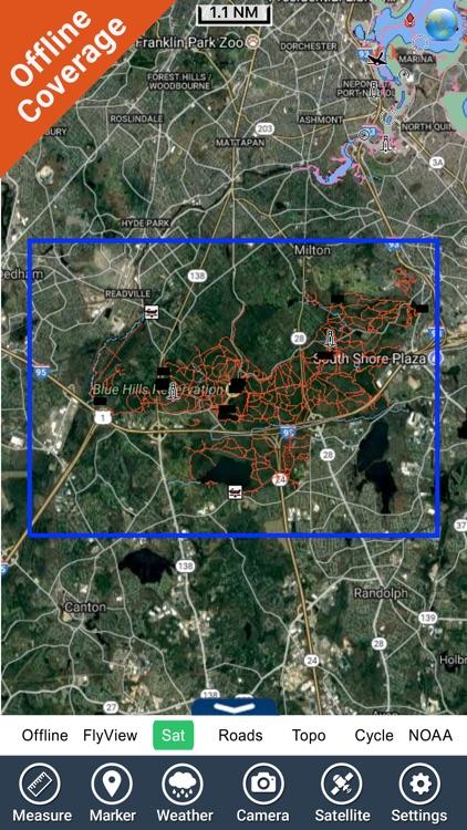 The Blue Hills Reservation GPS Map Navigator screenshot-4