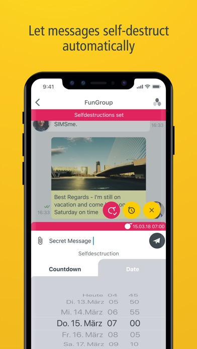 SIMSme – Your secure messenger screenshot three
