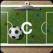 サッカーコーチのクリップボード
