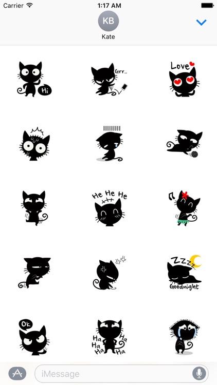 Funny Black Cat Stickers