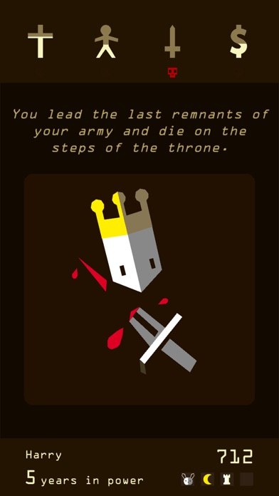 Reigns Screenshot on iOS