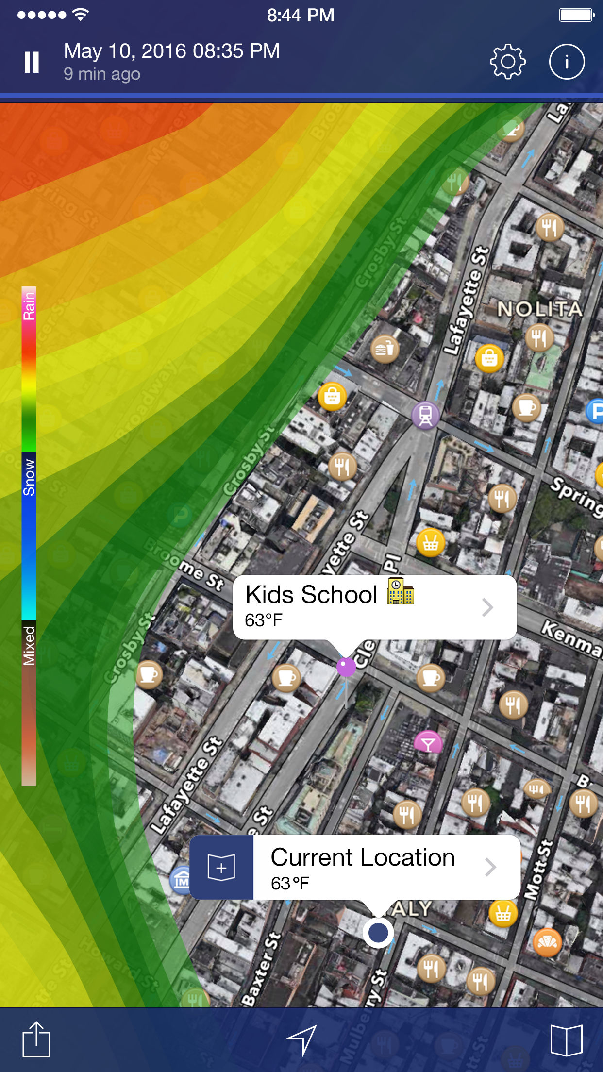 NOAA Weather Radar. Screenshot
