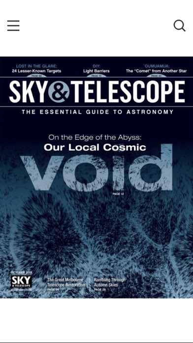Sky Telescope Magazine review screenshots