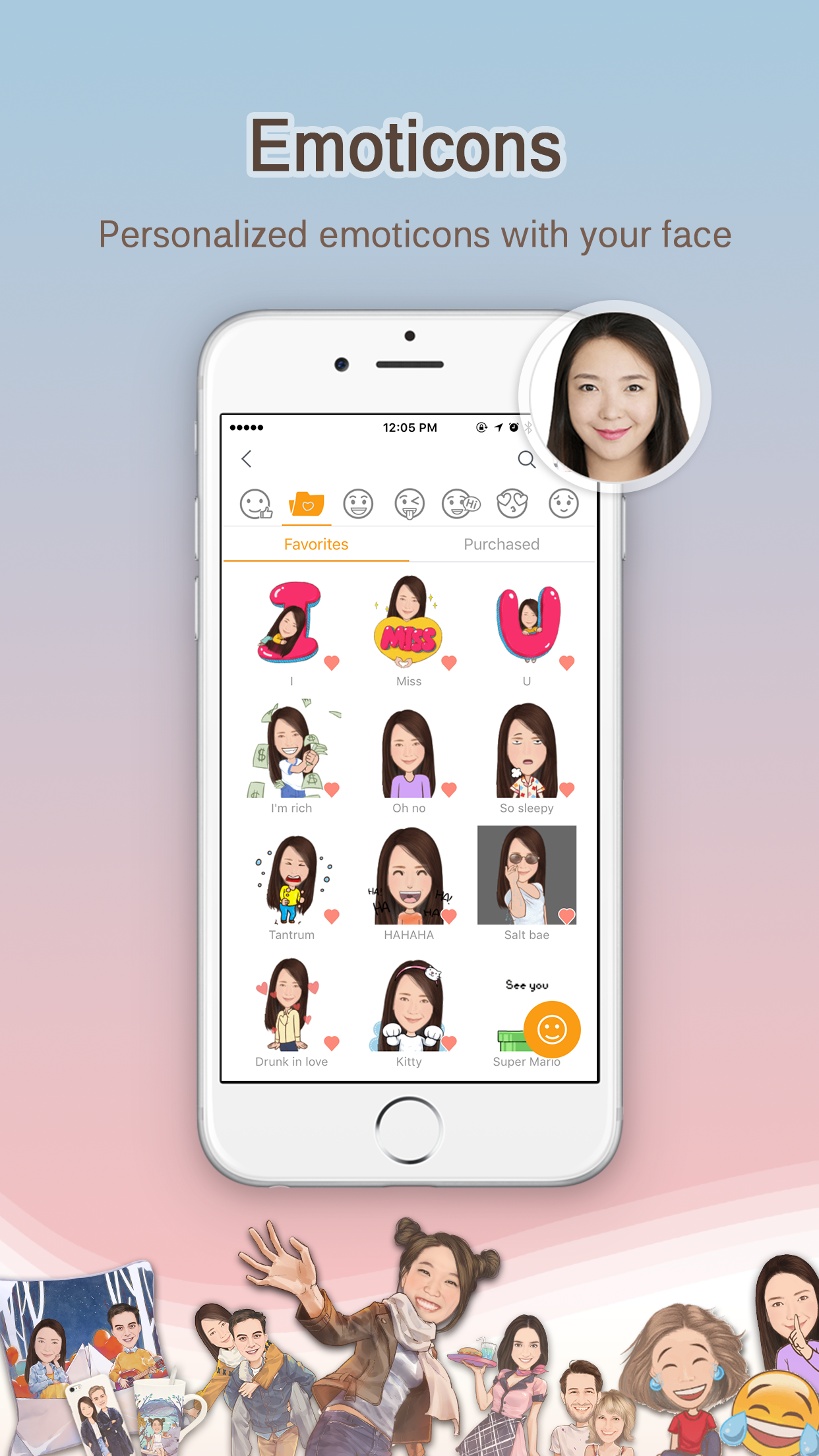 MomentCam Cartoons & Stickers Screenshot