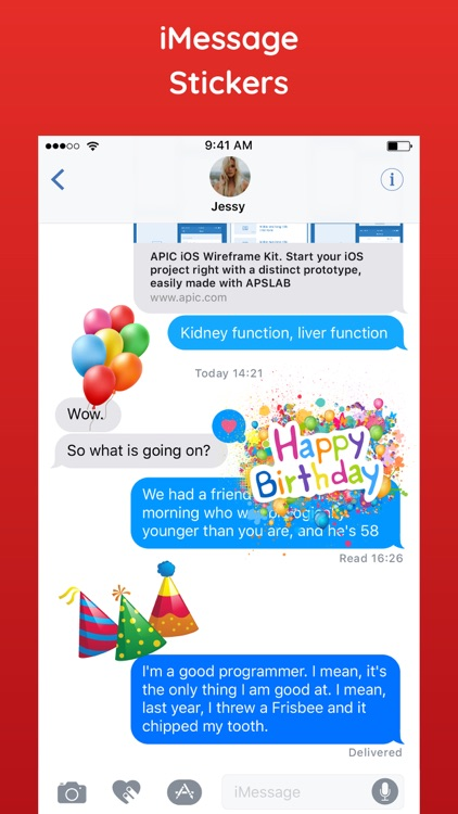 Happy Birthday Sticker HBD App screenshot-3