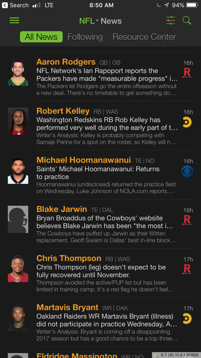 Playerline Fantasy Sports News Screenshot