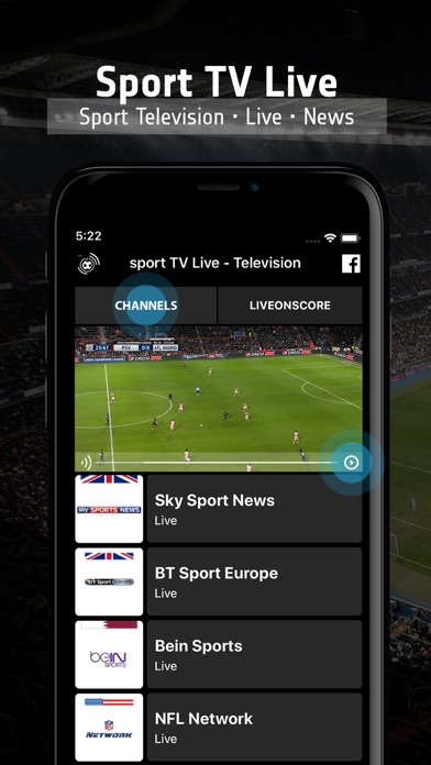 sport TV Live - Television Screenshots