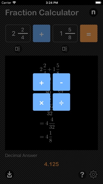 Fraction Calculator App Reviews - User Reviews of Fraction Calculator