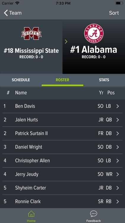 Alabama Football 2018 screenshot-5