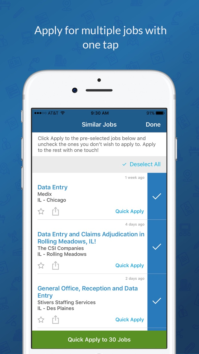 CareerBuilder Job Search Screenshot