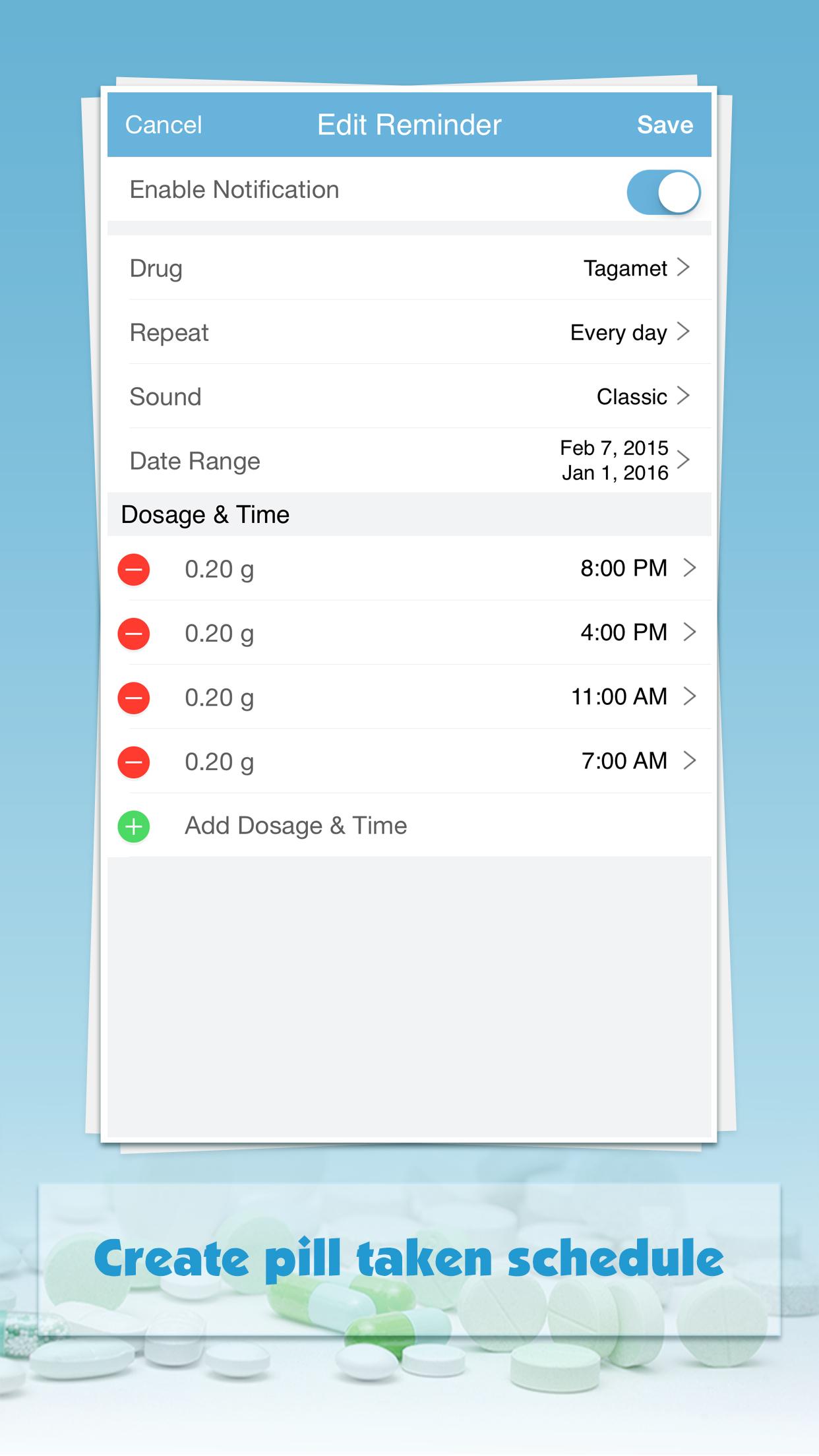 Pill Monitor: Drug Minder Screenshot