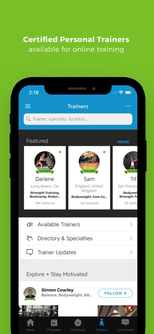 1ce76b9febd Workout Trainer  fitness coach on the App Store