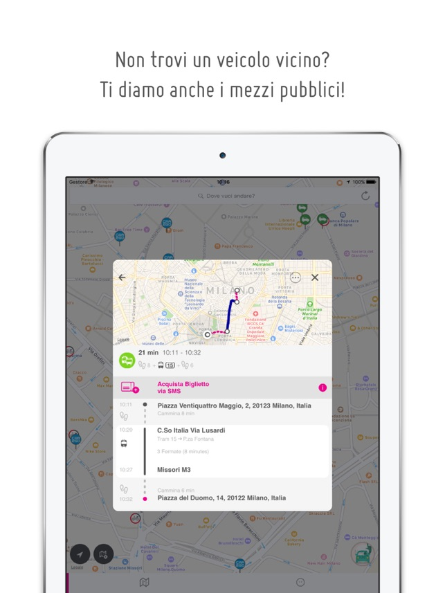 urbi - car sharing e mobilità Screenshot