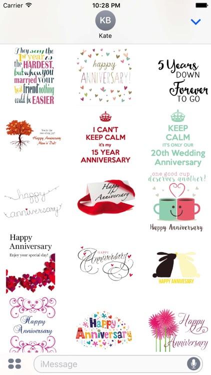 Happy Anniversary Love Sticker Pack screenshot-3