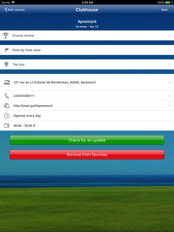 Mobitee Golf GPS Rangefinder Scorecard Flyover screenshot