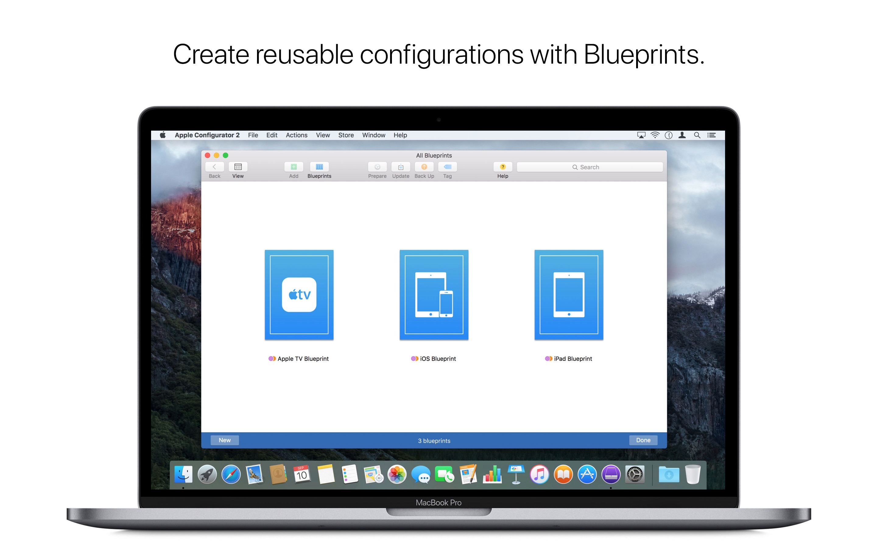 Screenshot do app Apple Configurator 2