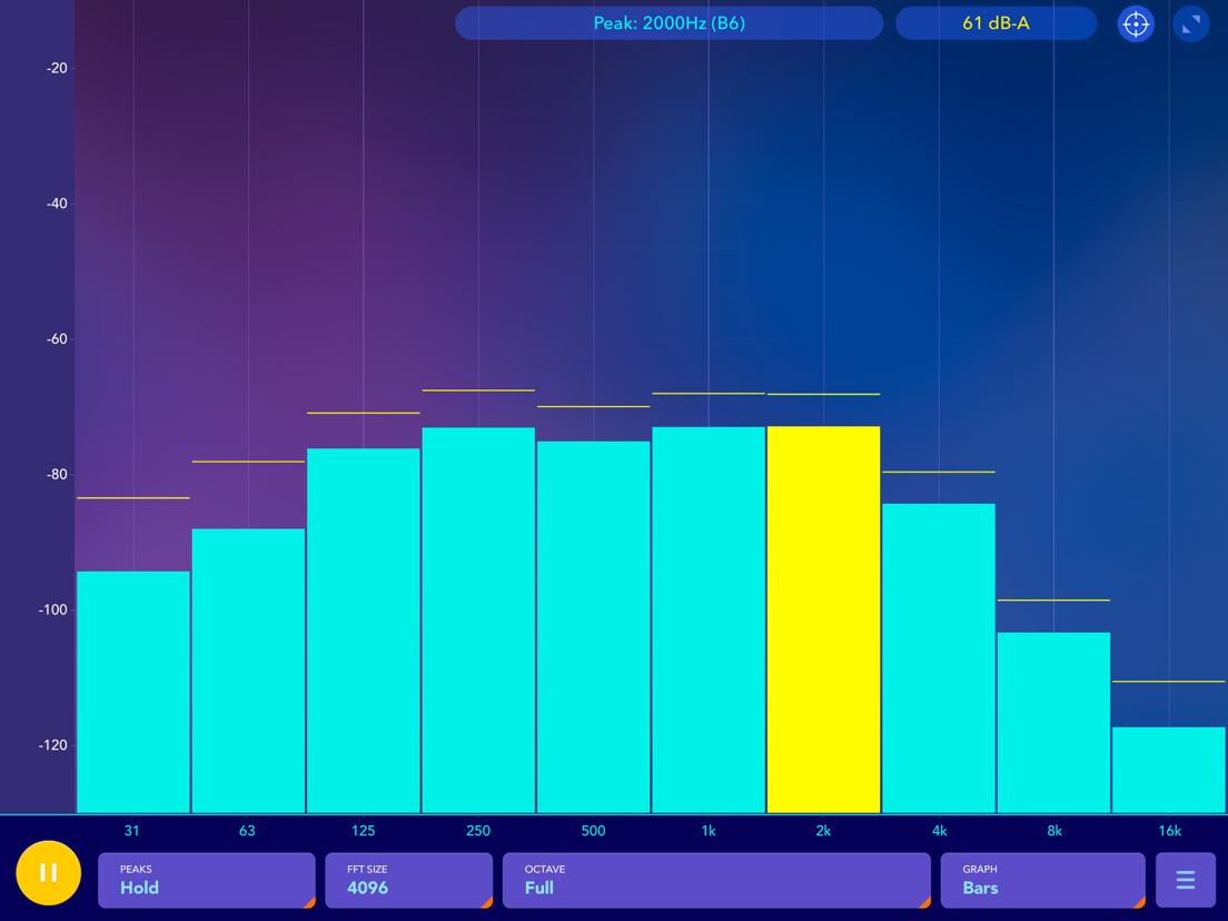 Audio Spectrum Analyzer dB RTA - App voor iPhone, iPad en