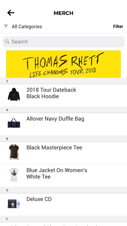 Thomas Rhett's: Home Team App