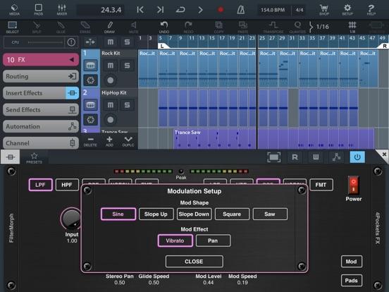FilterMorph AUv3 Audio Plugin screenshot 9