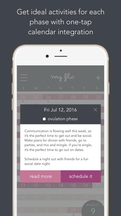 MyFLO Period Tracker app image