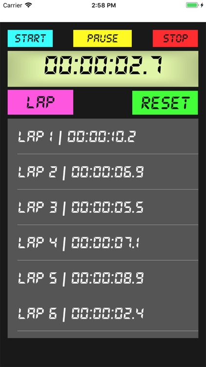 Easy Stopwatch With Laps
