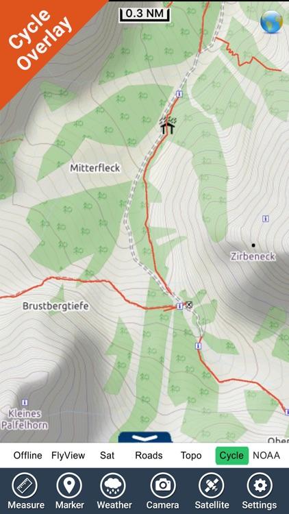 Berchtesgaden National Park - GPS Map Navigator screenshot-3