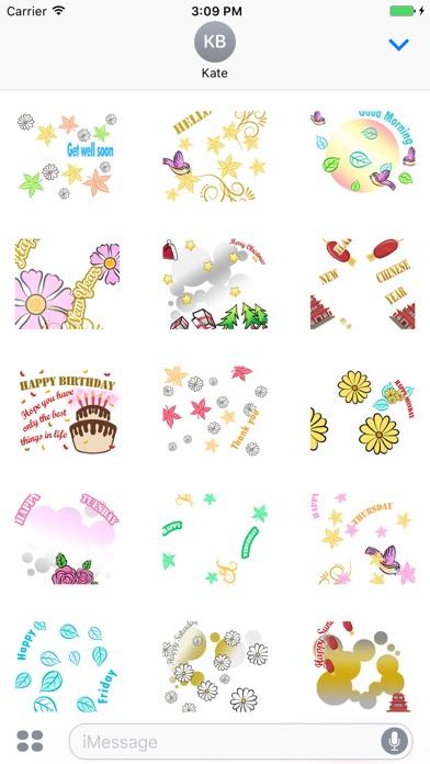 Animated Greetings Sticker screenshot 2