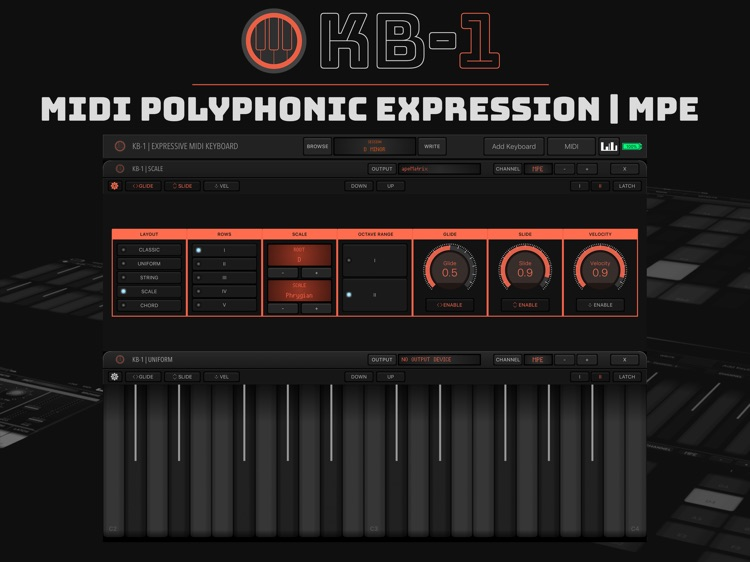 KB-1 MIDI Keyboard screenshot-1