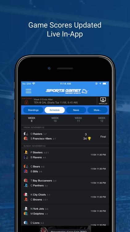 Sports Gamet Fantasy Football