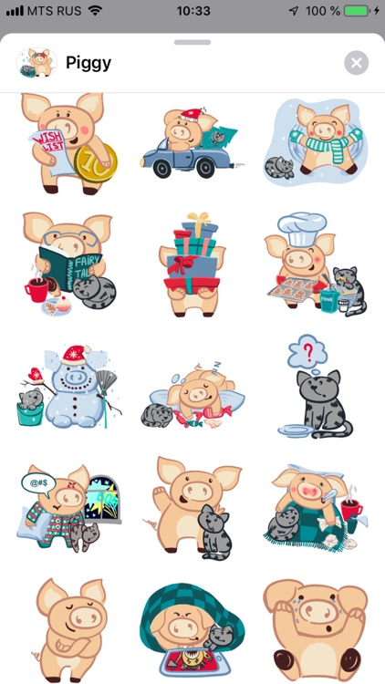 New year with Piggy - Stickers